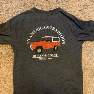 Kids Ocean + Coast red Jeep t-shirt